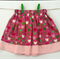 Size 4 - Reversible Skirt Pink Butterflies with Pink Chevron - ready to post