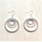LARGE ALL SIZES SIMPLE SILVER CIRCLES EARRINGS - FREE SHIPPING WORLDWIDE