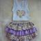 Sunny rosie skirt ruffle bloomers  + singlet set sz 2