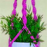 Purple macrame hanger