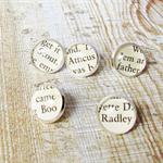 To Kill a Mockingbird Thumbtack Set Push Pins Atticus Finch Boo Radley