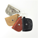 Small Leather Pouch Key ring/ Key fob/ card holder/wallet key ring