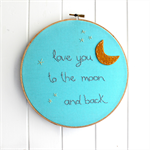 love you to the moon | hoop art | baby nursery bedroom gift
