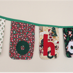 """ho ho ho"" bunting banner flag decorations - one of a kind"