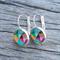 Glass dome hoop earrings - Geometric