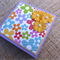 "Fancy Post It Notes Holder with secret ""Docket Pocket"" - Bright blooms"