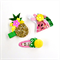 Tutti Frutti Clip Set - Pineapple Watermelon Pom Pom - Pink Gold Yellow