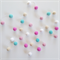 Felt Ball Garland in Bubblegum in Light Pink, Turquoise, Sand, White, Pink
