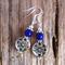 Vivid Violet Baked Porcelain & Tibetan Bead Earrings