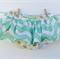 Gorgeous Mint Green Gold Chevron with Gold Spots Skirted Bloomers Nappy Cover -