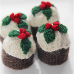 Plum Pudding Christmas Decoration - 4 pack