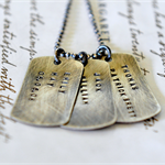 Dog Tag Necklace Gift For Dad Military Dog Tags Rustic Necklace Personalised