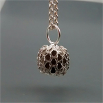 Sterling Silver Seedpod Pendant