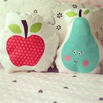 Tutti-Frutti apple cushion