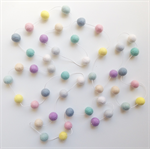 Felt Ball Garland in Light Pink, Duck Blue, Tiffany Blue, White, Light Blue etc