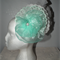 SALE. Mint Princess...seafoam mint green sculptured headpiece Bride Wedding