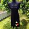 SAMPLE SIZE SMALL/Medium Black Knit Ponti Circle Dress by Redressd