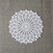 Crochet doily, large in snow white, free postage