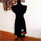 SAMPLE SIZE SMALL Black Knit Ponti Circle Dress by Redressd