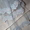 SALE..French Blue Lace Wedding Bridal Veil 3-teird layered lace spotted netting