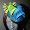 Organic Rhythm.SALE Lime green teal blue fascinator headpiece hat races wedding