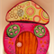 Pink Fairy/Elf mushroom house with free shipping!