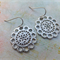Rhodium Lace Flower (short) Earrings