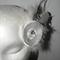 White Bridal Wedding hair clip peacock feathers satin handmade Bride diamonte