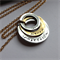 'Stephano' Gorgeous handcrafted 3 layer washer Gold and Silver pendant.