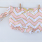 Gorgeous Pink Gold Chevron Shorties Nappy Cover with matching knotted headband