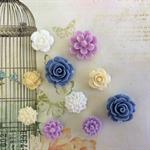 Spring Flower Magnets Set 14