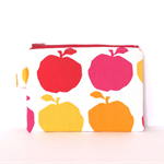 Medium Zipper Pouch -  Apples Delicious