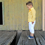 boys shirt - yellow long sleeve summer shirt