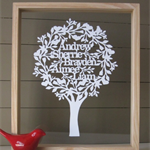 Family Tree - Papercut Keepsake