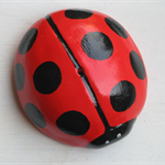 MOZZIE STICK HOLDER ,LadyBug design.Handmade in WA