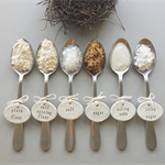 clay tags - pantry labels 'Get Baking' (set of 6)