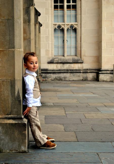 boys linen pants - French beige linen pants