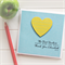 Teacher Personalised card The best teachers teach from the heart yellow lined