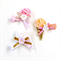 Ice cream clip trio - Gold Pink Peach White - Glitter - Felt - Birthday - Summer