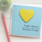 Teacher Personalised card It takes a big heart to shape little minds yellow