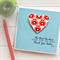Teacher Personalised card The best teachers teach from the heart apples