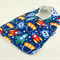 Baby, Infant Bib - Cute Space Ships, Cotton Fabric, Snap Fastened.