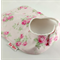 BabyGirl, Infant Bib, Pink Baby Roses on Cotton Fabric, Snap Fastened.