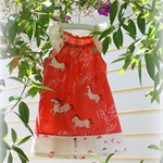 MaisyMoo Designs 'Orange Pony Field' Dress Sizes: 0-3mth - 4yr