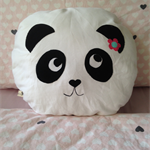Zelda the panda cushion