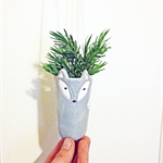 Fox Ceramic Hanging Planter