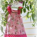 MaisyMoo Designs 'My Pink Playful Bear' Dress Sizes: 0-3mth - 4yr