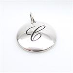 Personalised initial disc pendant