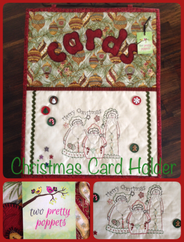 beautifully crafted christmas card holder wall hanging
