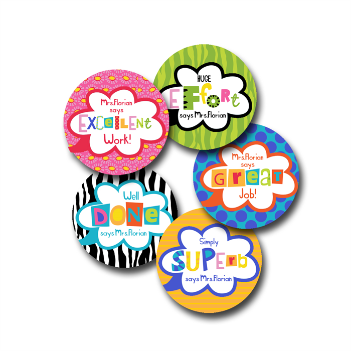 Ransom note personalised stickers for teachers